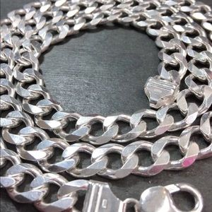 Jewelry - Silver Italian Curb Chain Necklace